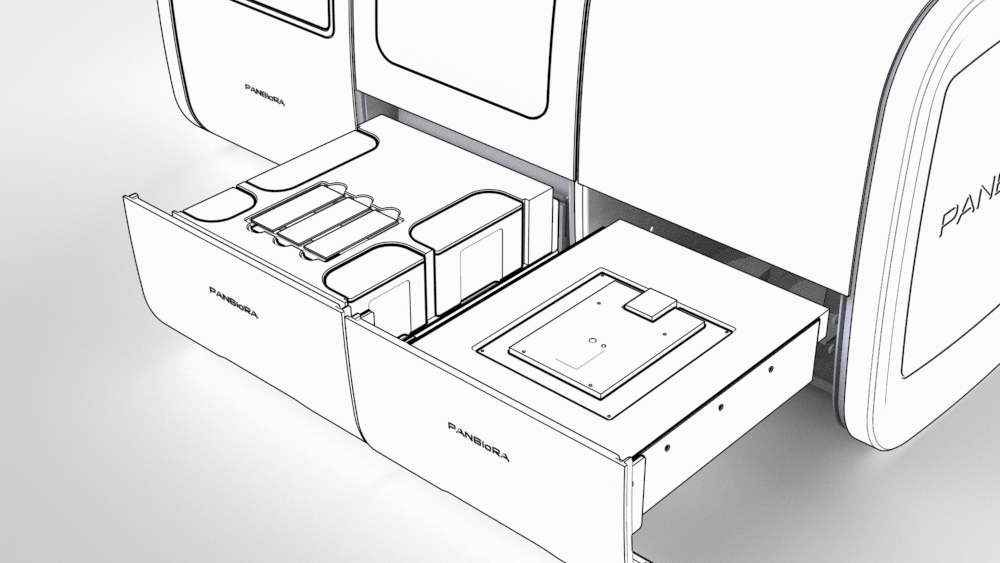 Drawers outline Close Up